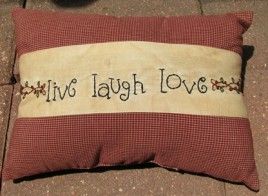 01-2940 Love Live Laugh Pillow