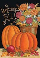 116FM- Welcome Fall Garden Flag