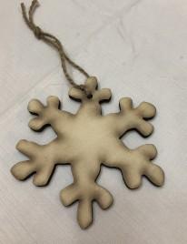 Snowflake Wood Handmade Christmas Ornament