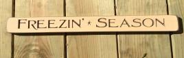 Primitive Engraved Wood Block G9032 - Freezin Season