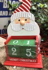 Marry Christmas Wood Santa Christmas Countdown Blocks