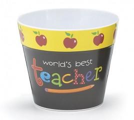 Teacher Gifts  0485303 Worlds Best Teacher Pot Cover