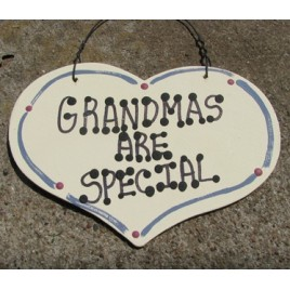 1000 - Grandmas Are Special wood Heart
