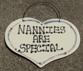 1002 - Nannies are Special  wood heart