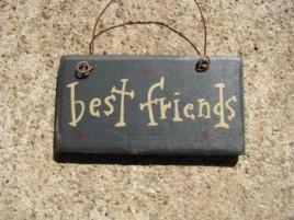 1003BF Best Friends mini wood sign