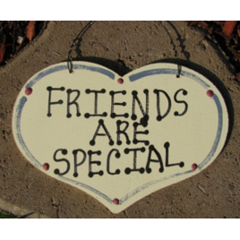 1005 Friends Are Special wood heart