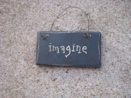 1009IM - Imagine MINI wood sign