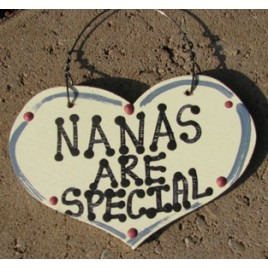 1022 - Nanas Are Special  smalll wood Heart
