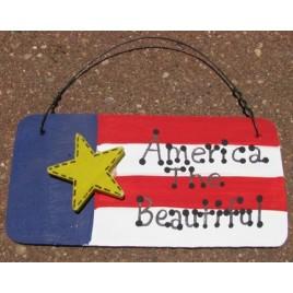 Patriotic Decor 10977AB - America the Beautiful Wood Sign