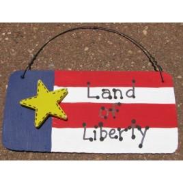 Patriotic Wood Sign 10977LOL - Land of Liberty