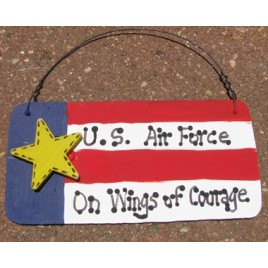 Patriotic Sign 10977PBA - US Air Force On Wings of Courage