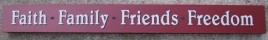 10983N - Faith Family Friends Freedom wood block
