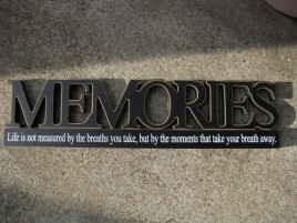 11146H - Memories Tabletop Cut Out Free Standing Wood