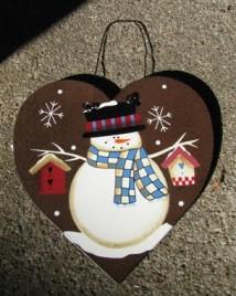 Heart Metal 1115 Snowman Christmas Ornament