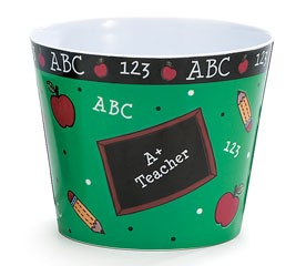 Teacher Gifts 1137304   Plastic Pot Cover School Daze
