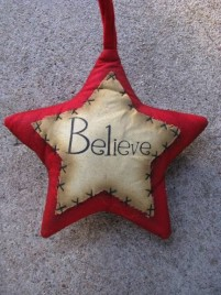 Primitive Decor 1146089RB - Red Believe Star
