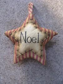 Primitive Decor 1146089SN - Stripe Noel Star