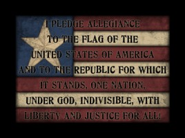114A - Pledge of Allegiance Wood SIgn