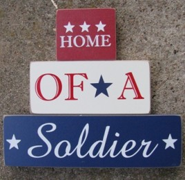 11539B - Home of a Soldier set of 3 blocks