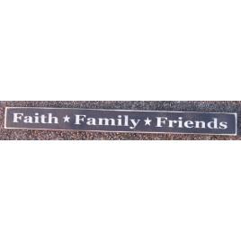 115B- Faith Family Freinds wood block