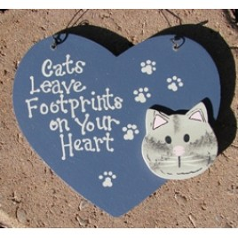 1196 - Cats leave footprints on your heart