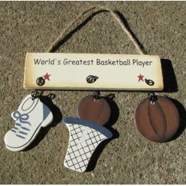 1200B  Worlds Greatest Basketball Player wood sign