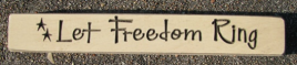 Primitive Engraved Wood Block  12LFR Let Freedom Ring