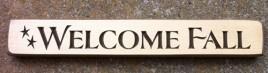 12CRWF - Welcome Fall engraved wood block