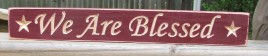 12wab- We Are Blessed Engraved Wood Block