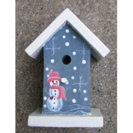 131BSBH - Blue Snowman Birdhouse