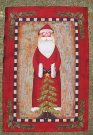 1336ps - Primitive Santa Garden Flag