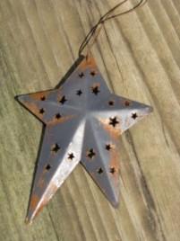 WD1382B - Blue Metal Star Ornament
