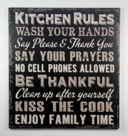 1422KRB - Kitchen Rules Black Sign
