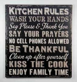 1422KRB - Kitchen Rules Black Sign