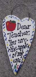 1430 - Dear Teacher You are the Apple of my eye