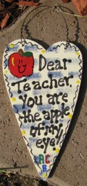 1431 - Dear Teacher Checkered You are the Apple of my eye