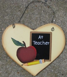 1600C - A+ Teacher wood heart