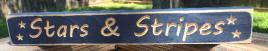 Primitive Engraved Wood Block 1800 Stars & Stripes