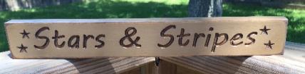 Stars & Stripes Tan  1802 Primitive Engraved Wood Block