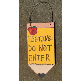 Teacher Gifts Wood Pencil  19 Testing Do Not Enter