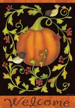 1962PVFG - Pumpkins and Vines Garden Flag