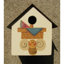 2104BWB- Bee Watermelon Birdhouse Tin Roof