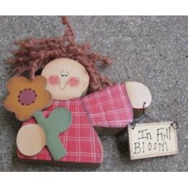 210GF- In Full Bloom Sunflower wood Doll