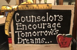Teacher Gifts 2781C Counselors Encourage Tomorrow's Dreams Supply Box Wood