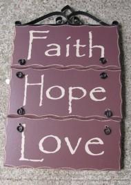 2392FHL-Faith Hope Love Wood Sign