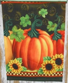 2408 Pumpkin Sunflower Garden Flag