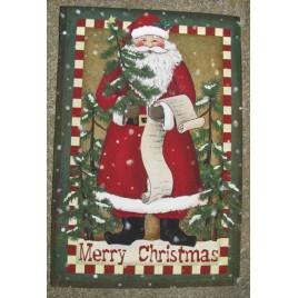 2502SF - Santa Merry Christmas Garden Flag