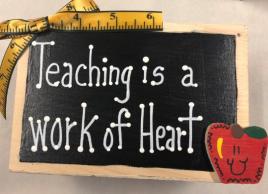 Teacher Gifts 2711DC-Teaching is a work of Heart Supply Box