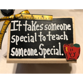Teacher Gifts  2745 It takes someone special to teach someone Special Supply Box