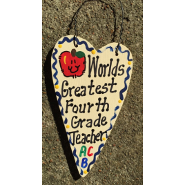 Teacher Gifts 3018  Worlds Greatest  Fourth Grade Teacher